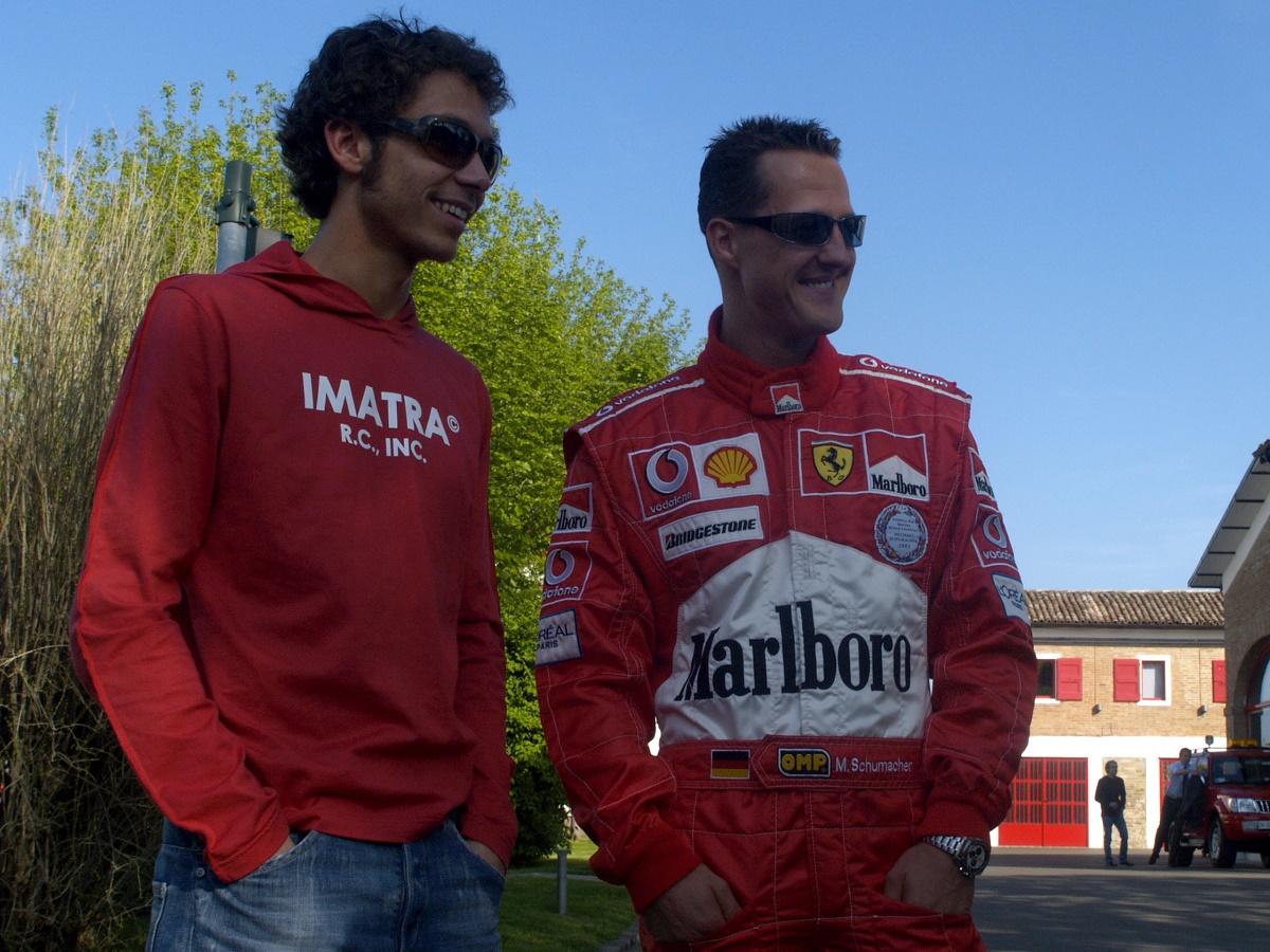 Valentino Rossi, Michael Schumacher