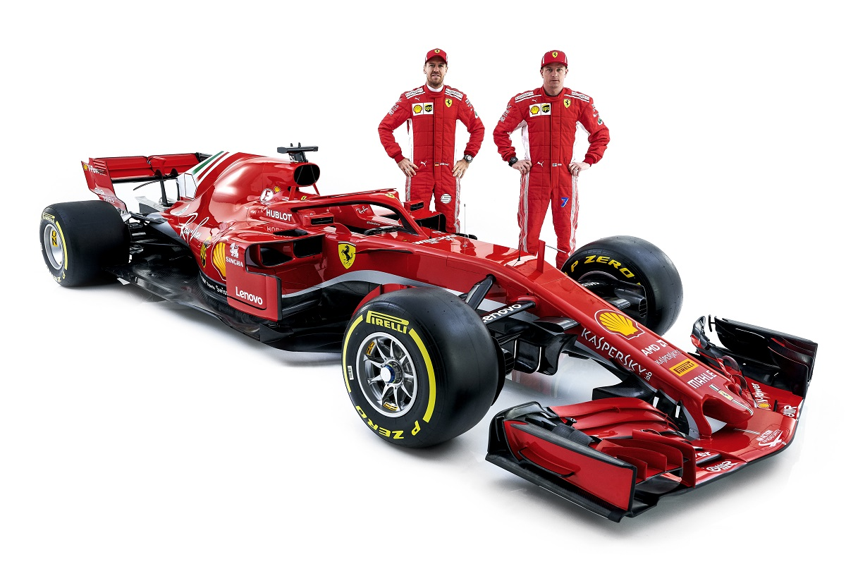 Ferrari SF71H, Räikkönen, Vettel