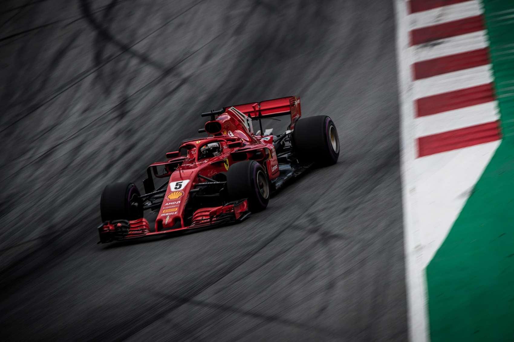 Vettel, Ferrari, Racingline