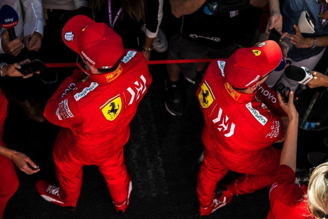 Sebastian Vettel, Charles Leclerc, Ferrari, racingilnehu, racingline.hu