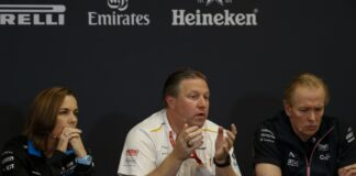 Claire Williams, Zak Brown, Andrew Green