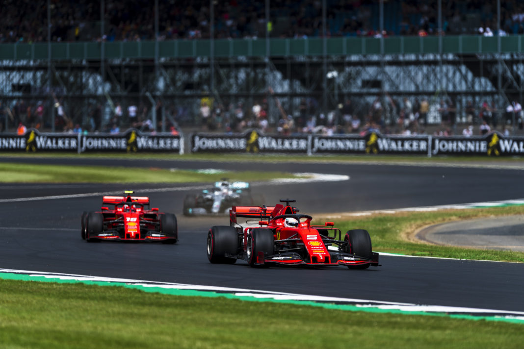 Ferrari Silverstone Leclerc Vettel
