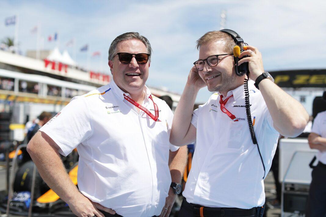 Zak Brown, McLaren, Andreas Seidl