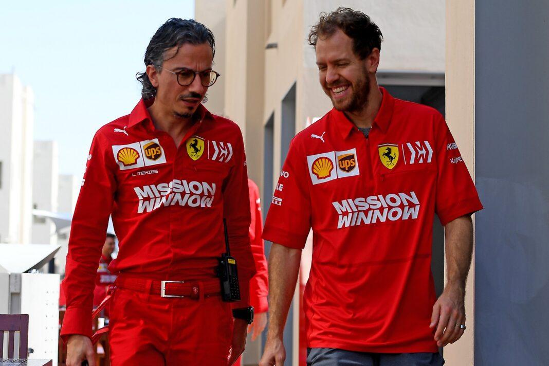 Sebastian Vettel, Laurent Mekies, Ferrari, racingline