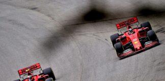 Charles Leclerc, Sebastian Vettel, Ferrari, racingline
