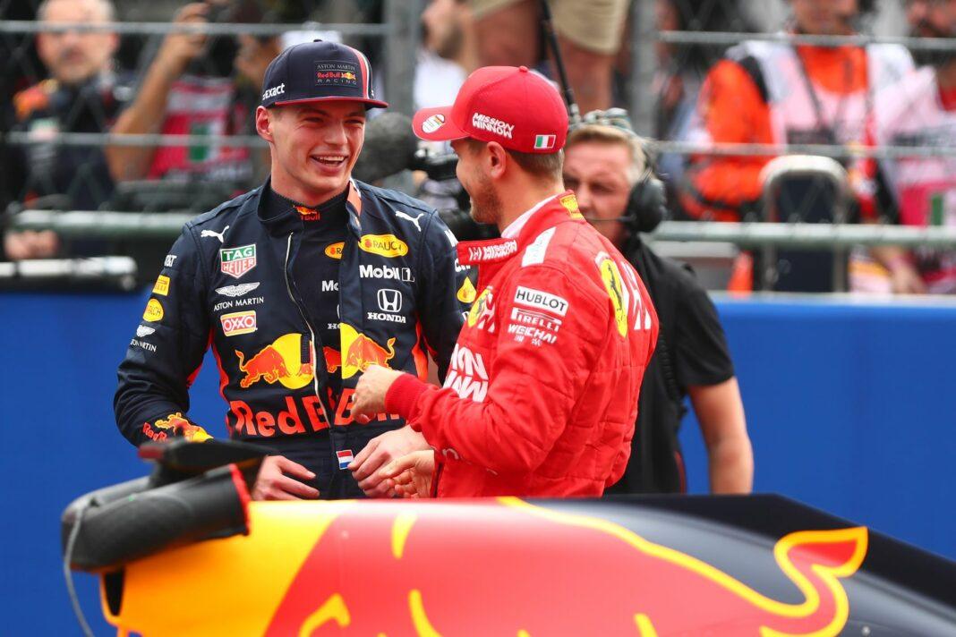 Max Verstappen, Sebastian Vettel, racingline