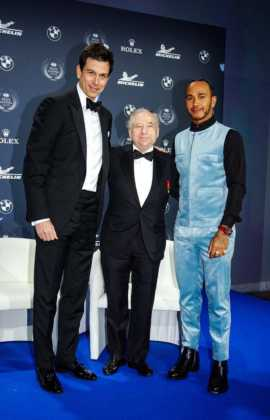 FIA Gála, Toto Wolff, Jean Todt, Lewis Hamilton