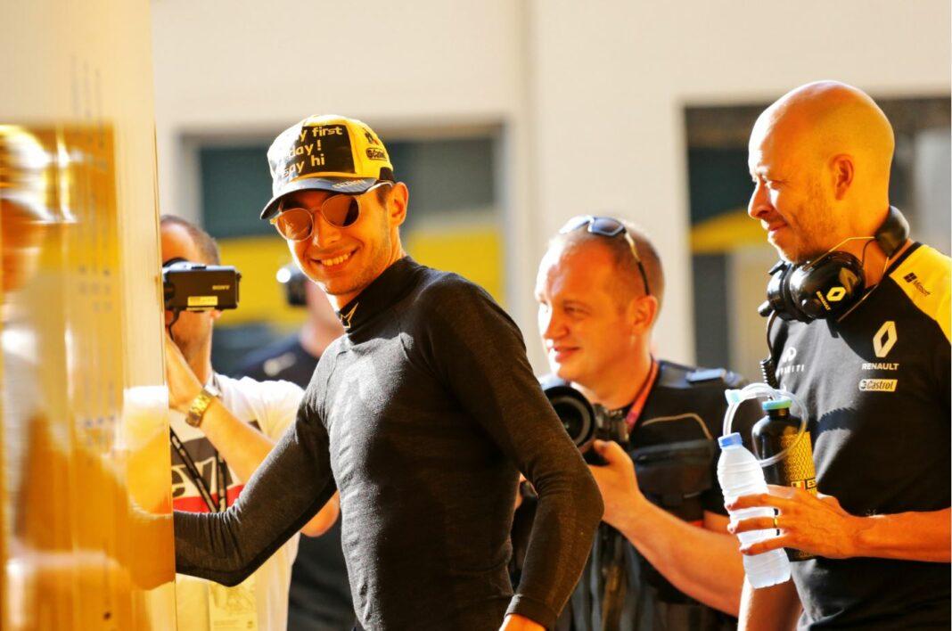 Esteban Ocon, Renault, racingline