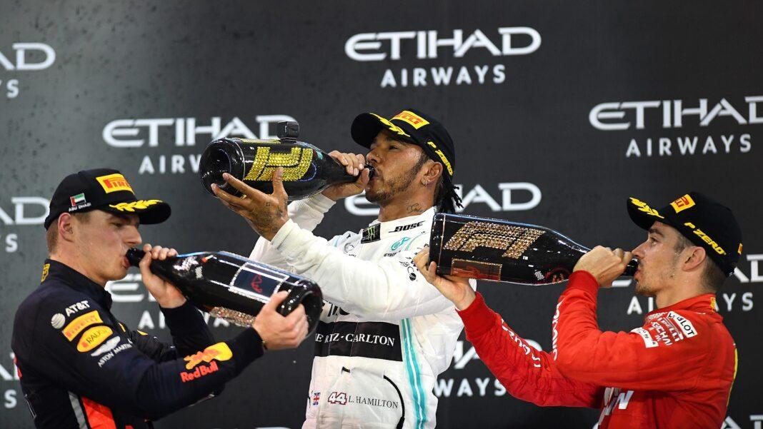 Max Verstappen, Lewis Hamitlon, Charles Leclerc, a nap versenyzője