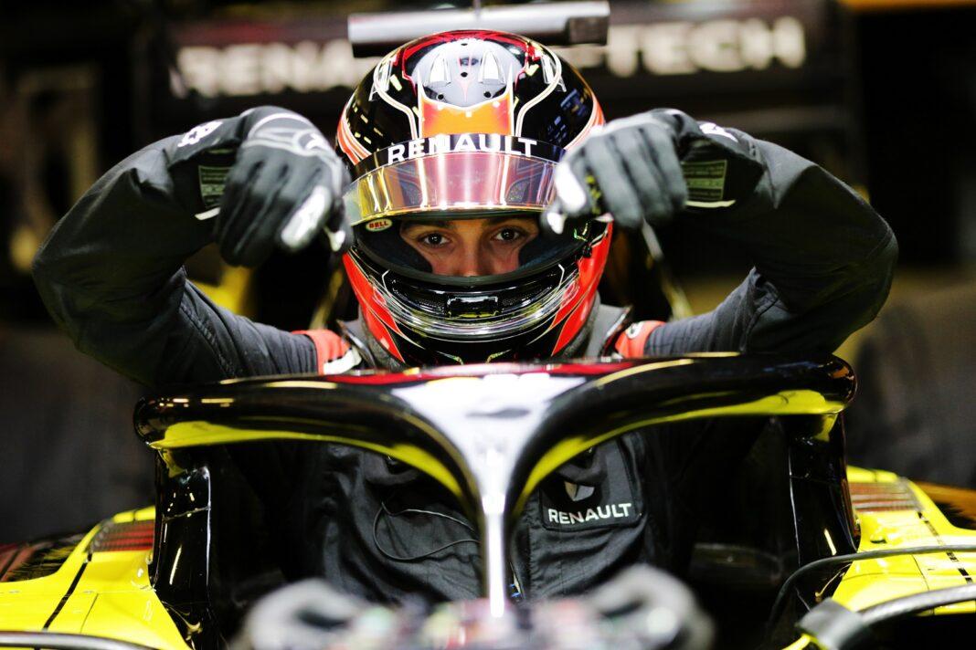 Ocon, Renault, racingline