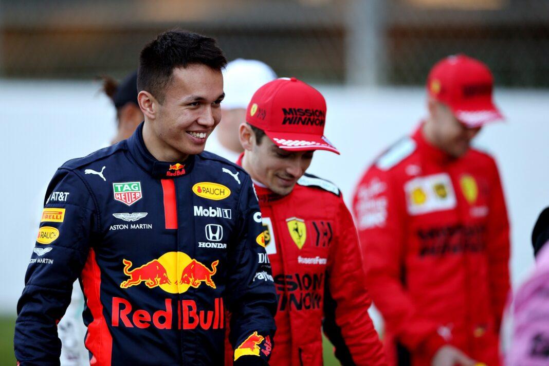 Albon, Leclerc, racingline