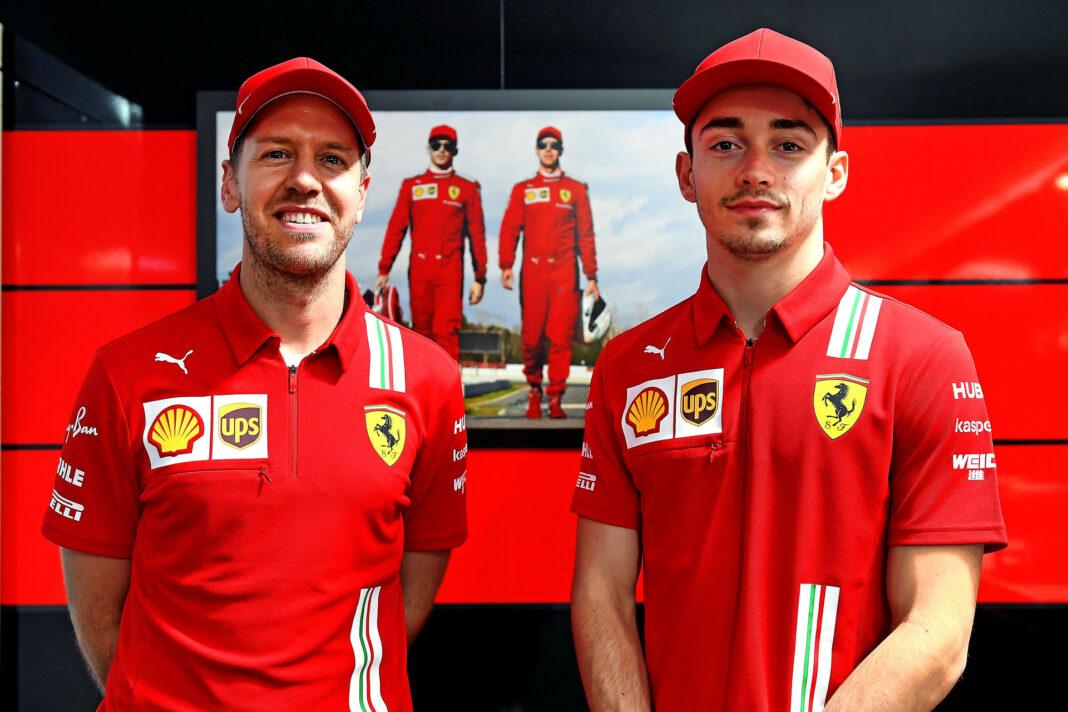 Sebastian Vettel, Charles Leclerc, racingline