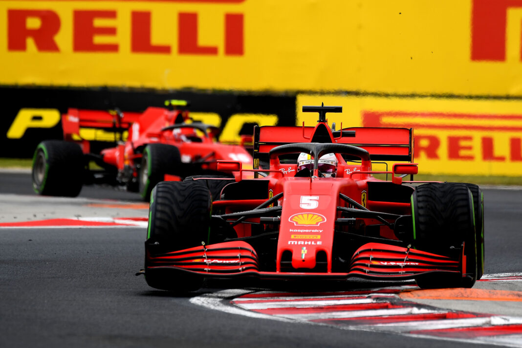 Sebastian Vettel, Charles Leclerc, Ferrari, racingline