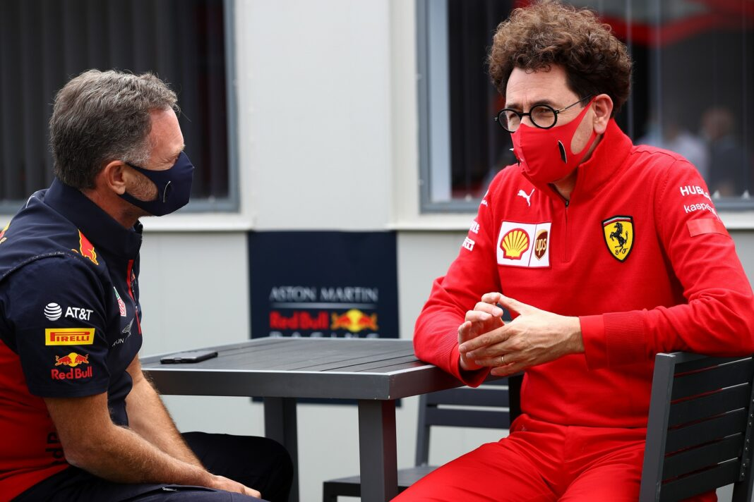 Christian Horner, Mattia Binotto, Red Bull, Ferrari, Mercedes, racingline