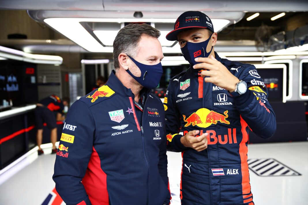 Christian Horner, Alex Albon, Red Bull, racingline